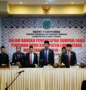 Disaksikan Bupati Indah, Berikut Nama Pimpinan Baru DPRD Luwu Utara
